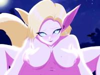 エロいカラダをした狐と人間のハーフのお姉さんが人間の男に跨り強引にセックスしちゃう淫乱プレイ Pornhub 無料エロアニメ動画