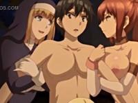 精液を浴びて発情してしまった美女たちに取り囲まれ何発もザーメンを抜かれてしまう主人公 XVIDEOS 無料エロアニメ動画