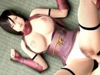 鍛え抜かれた肉体を持つ巨乳くノ一の中出しセックス XVIDEOS 無料エロアニメ動画