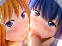 小生意気な2人の美少女メイドがご主人様のデカチンで濃厚3Pエッチ XVIDEOS 無料エロアニメ動画