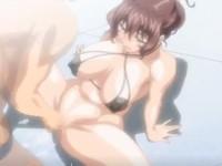 股のクレパスに溢れた愛の蜜を硬い肉棒で撹拌されながら膣内を責められる月美ちゃんの快感エッチ FC2 無料エロアニメ動画